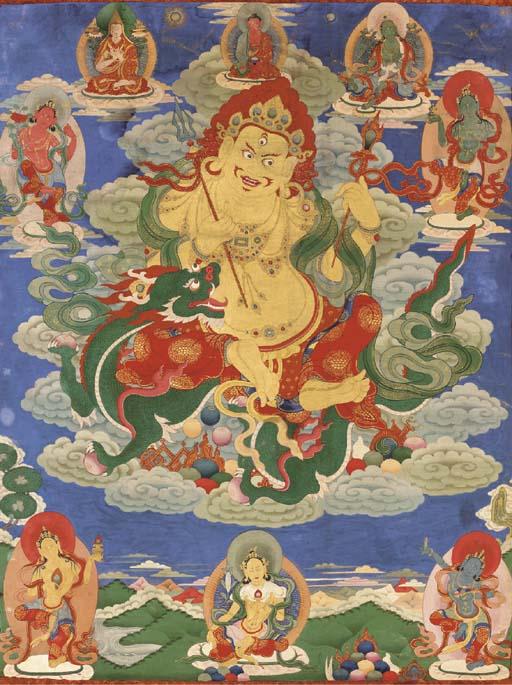 A Thangka of White Jambhala