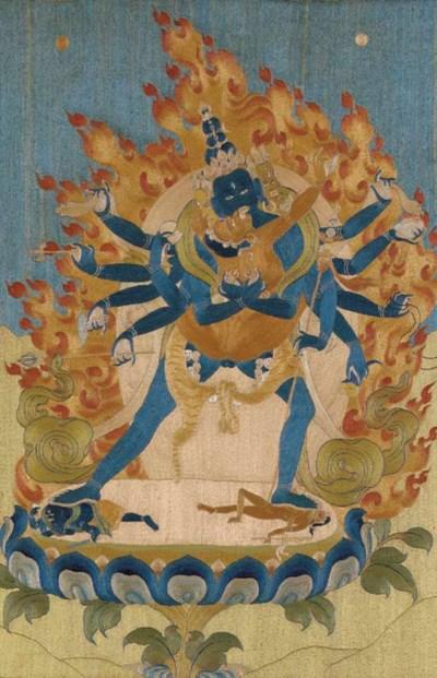 A Rare Silk Embroidered Thangk