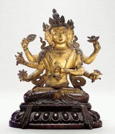 A Bronze Figure of a Tantric V