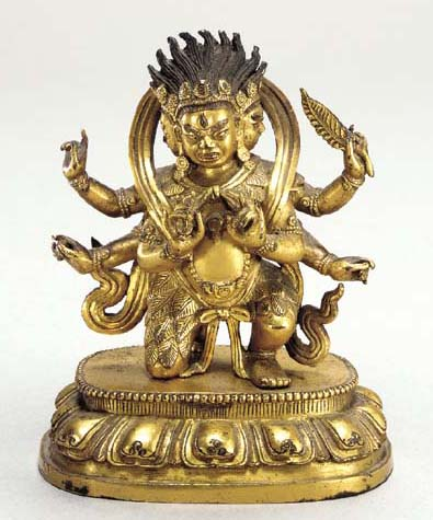 A Gilt Bronze Figure of Parnas