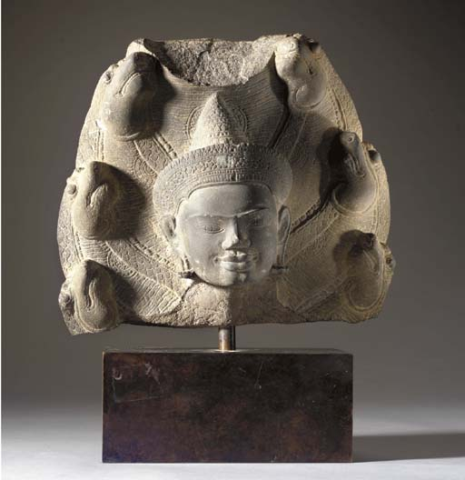 A Sandstone Head of Buddha Muc