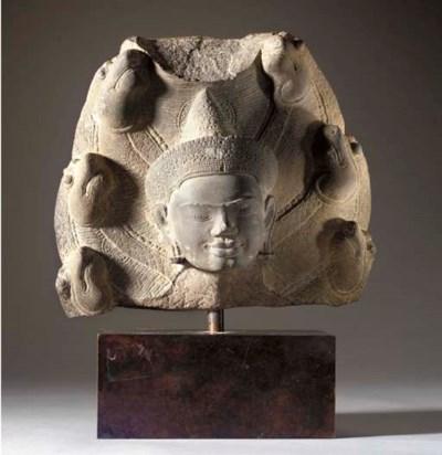 A Sandstone Head of Buddha Muc