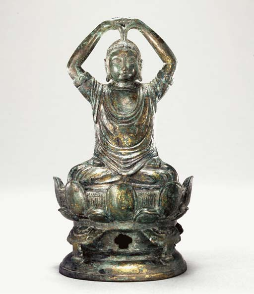 A Rare Bronze Figure of Vairoc