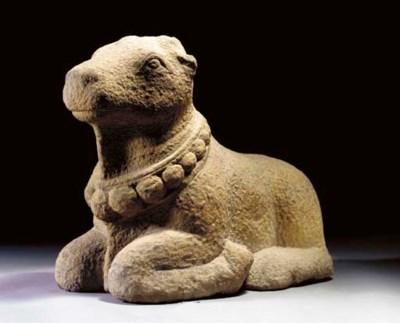 A Granite Figure of a Nandi