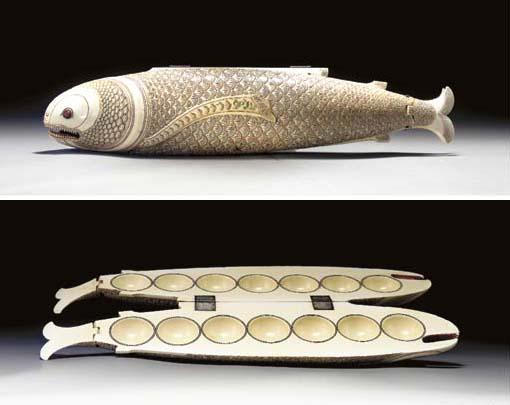 An Ivory Fish-Form Game, Olinda Kaliya**