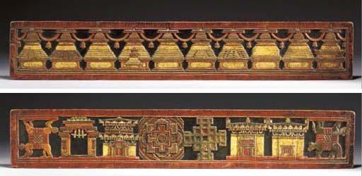 A Pair of Polychrome Manuscrip