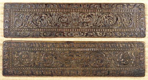 A Pair of Wood Manuscript Cove