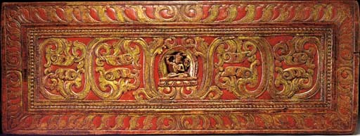 A Polychrome Wood Manuscipt Co