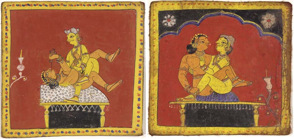 Two Erotic Paintings from a Ka
