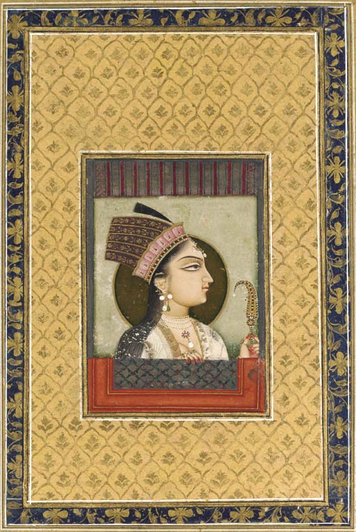 An Album Page of a Mughal Prin