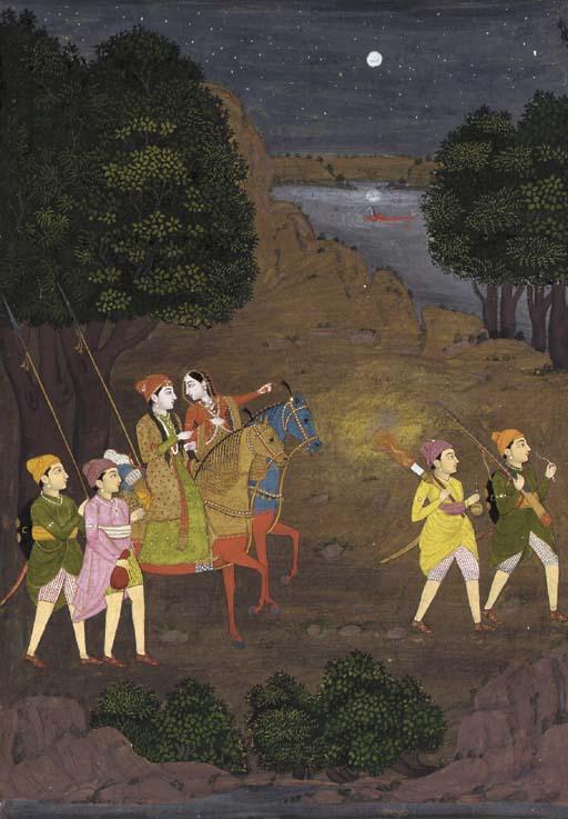 A Folio from a Nala-Damayanti