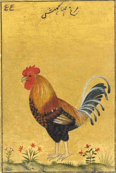 A Painting of a Rooster