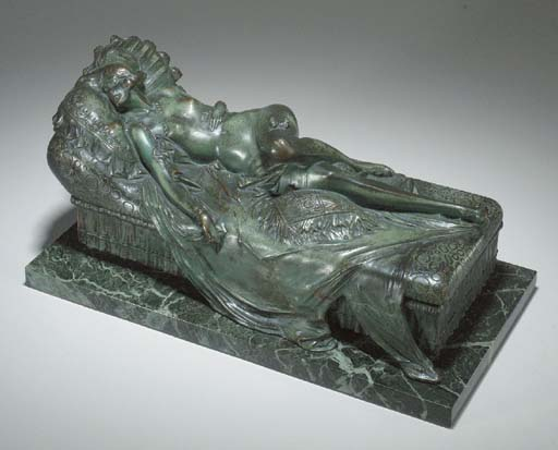 A BRONZE AND MARBLE COVERED BO
