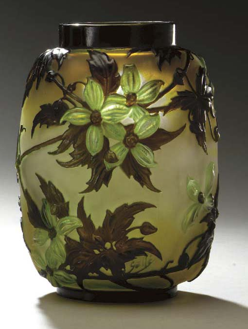 A 'CLEMATIS' MOLD-BLOWN, OVERL