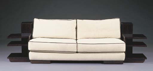 AN OREGON PINE AND UPHOLSTERED