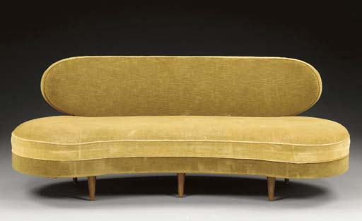 AN UPHOLSTERED 'FLAQUE D'EAU'