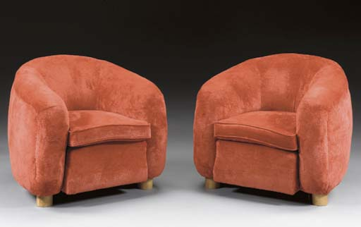 A PAIR OF UPHOLSTERED 'POLAR B