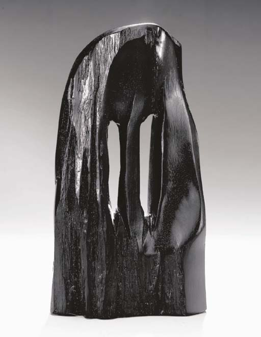 AN EBONY SCULPTURE