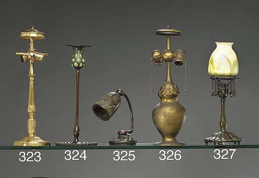 A 'GRAPEVINE' BRONZE DESK LAMP