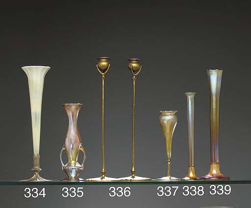 A PASTEL GLASS AND SILVER-BRON