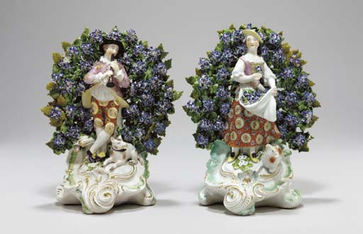 TWO DERBY BOCAGE FIGURES OF SH