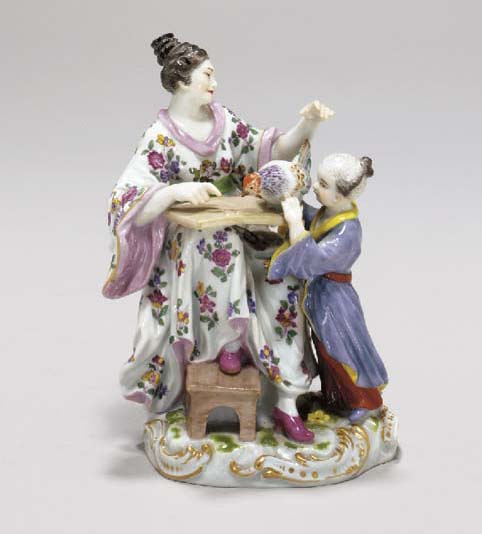 A MEISSEN CHINOISERIE FIGURE GROUP,