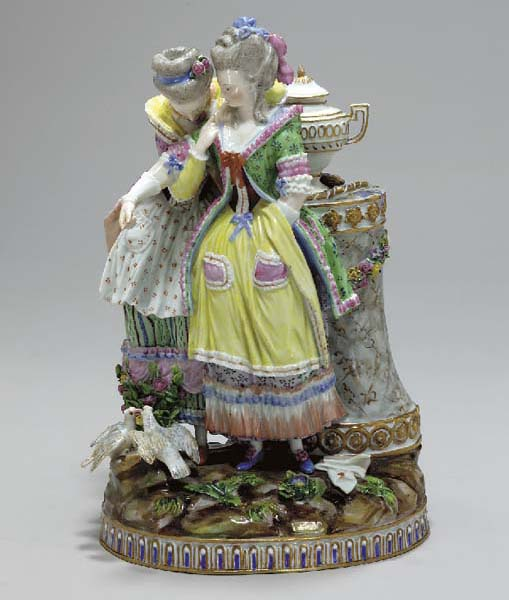 A MEISSEN OUTSIDE-DECORATED FI