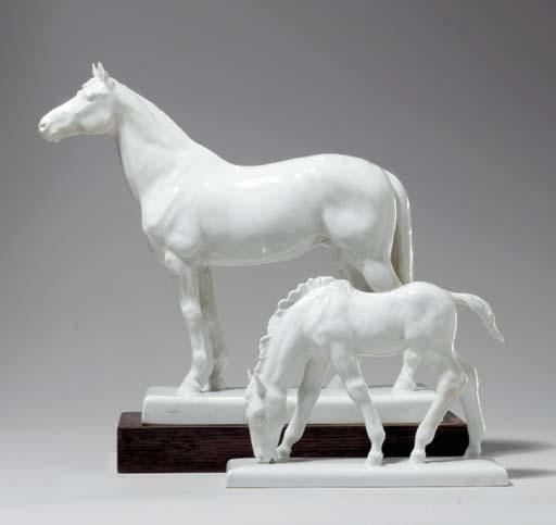 TWO MEISSEN MODELS OF HORSES,