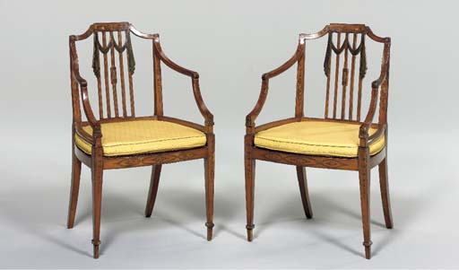 A PAIR OF LATE GEORGE III POLY