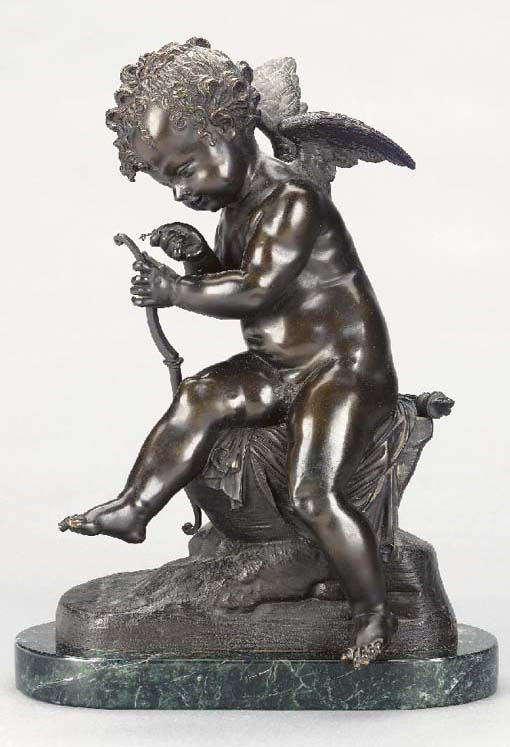 A BRONZE MODEL OF CUPID STRING