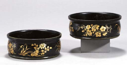 A PAIR OF VICTORIAN BLACK AND