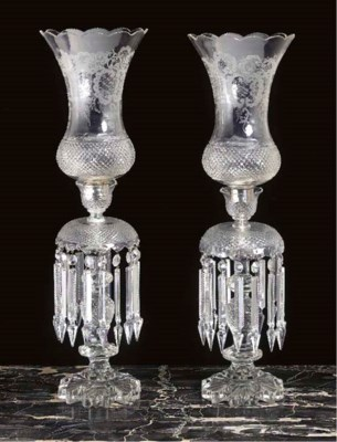 A PAIR OF VICTORIAN CUT AND ET