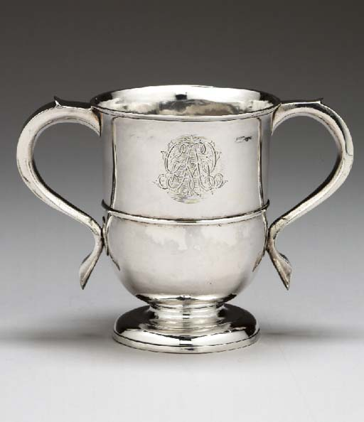 A GEORGE II SILVER TWO-HANDLE