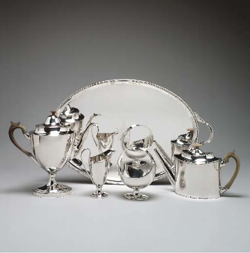 AN EARLY SHEFFIELD-PLATED TEA
