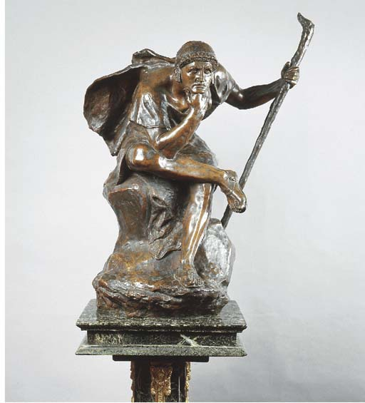 A French bronze figure of a se