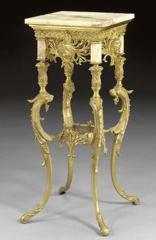 A French onyx and gilt-metal p