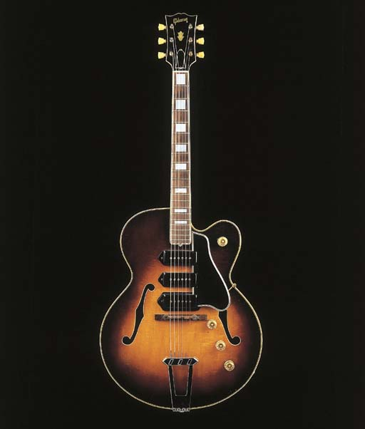 AN ELECTRIC ARCHTOP GUITAR