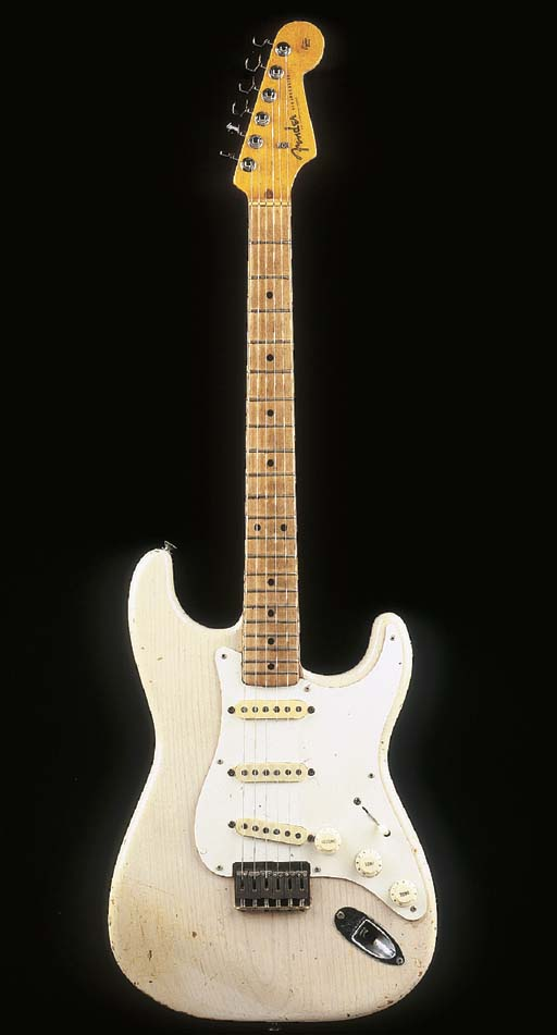 A SOLID BODY ELECTRIC GUITAR