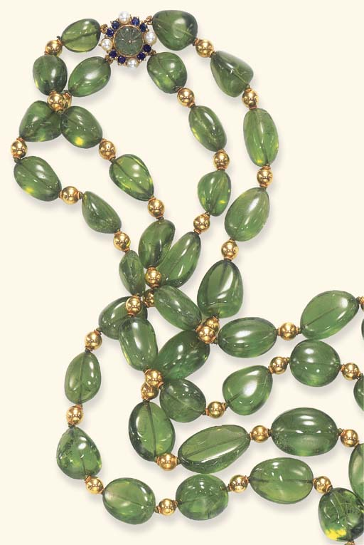 A DOUBLE-STRAND PERIDOT AND GE