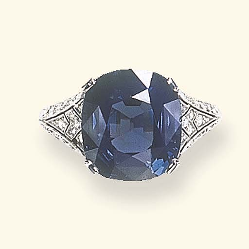 A BELLE EPOQUE BLUE SPINEL AND