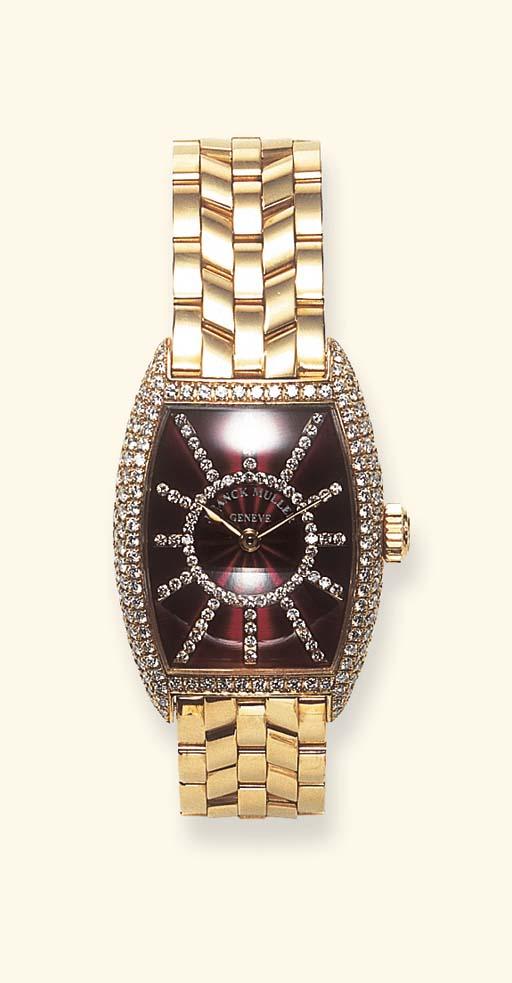 A DIAMOND AND ROSE GOLD WRISTW