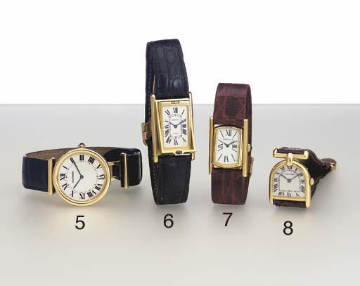 Cartier. An 18K gold wristwatc