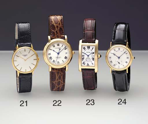Cartier. An 18K gold curved re