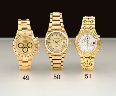 Rolex. A special edition 18K g