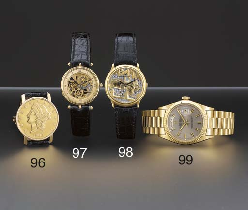 Ebel. An 18K two-colour gold U