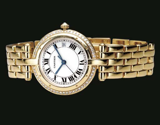 Cartier. An 18K gold and diamo