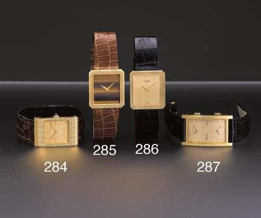 Piaget. An 18K gold rectangula