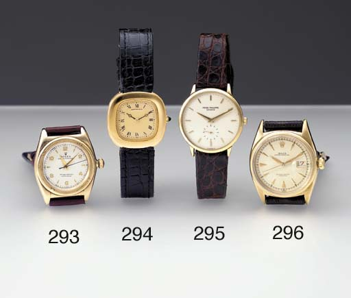 Rolex. A 14K gold self-winding