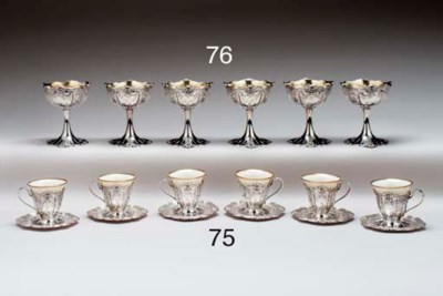 A SET OF TWELVE SILVER DEMITAS
