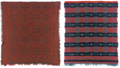 TWO WOVEN COTTON AND WOOL JACQ